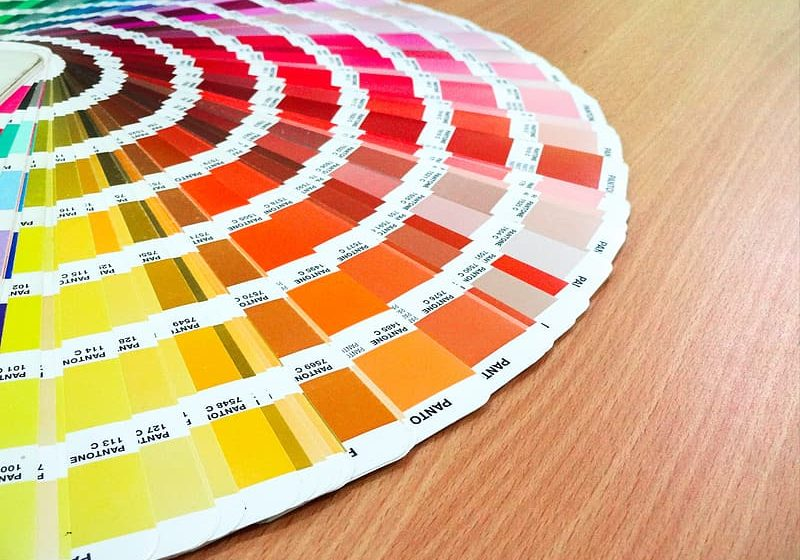 color-chart-on-brown-wooden-table